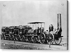 Dewitt Clinton Locomotive And Cars Acrylic Print by Omikron