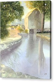 Dexter Grist Mill Reflections Acrylic Print by Joseph Gallant