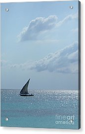 Dhow Acrylic Print by Alan Clifford