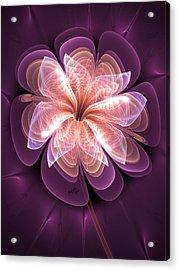 Diamond Dahlia Acrylic Print