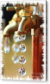 Diamond Drops Acrylic Print by Lori Mellen-Pagliaro