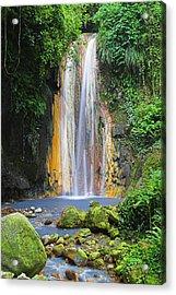 Diamond Falls- St Lucia Acrylic Print