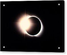 Diamond Ring Effect, Total Solar Eclipse Acrylic Print by Rev. Ronald Royer