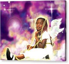 Diamond.angelic 2 Acrylic Print by Nada Meeks