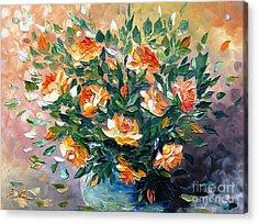 Diana S Roses Acrylic Print by AmaS Art