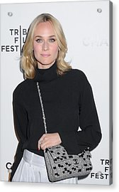 Diane Kruger Carrying A Chanel Bag Acrylic Print by Everett