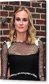 Diane Kruger Wearing A Chanel Dress Acrylic Print by Everett