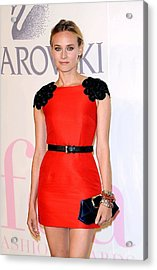 Diane Kruger Wearing A Jason Wu Dress Acrylic Print by Everett