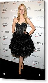 Dianna Agron At Arrivals For Audi Acrylic Print by Everett