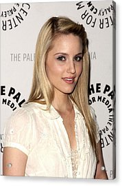 Dianna Agron At Arrivals For Glee Acrylic Print by Everett