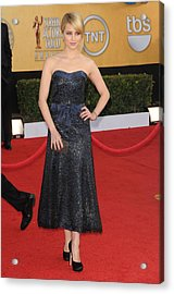 Dianna Agron Wearing A Chanel Dress Acrylic Print by Everett