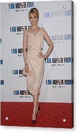 Dianna Agron Wearing A Vivienne Acrylic Print by Everett