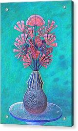 Diatoms Acrylic Print by Purvis Evans