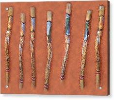 Didgeridoo Acrylic Print by Janice T Keller-Kimball
