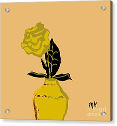 Digital Drawing Acrylic Print by Marsha Heiken