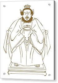 Digital Illustration Of Ancient Chinese Philosopher Confucius Acrylic Print