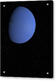 Digital Illustration Of Neptune Acrylic Print by Jason Reed