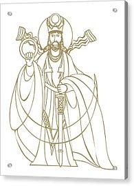 Digital Illustration Of Zoroastrian Deity Kshathra Vairya Acrylic Print