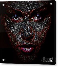 Digital Woman Inspired By A Real God Acrylic Print by Fania Simon