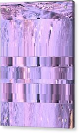 Digitized Purple Acrylic Print by Colleen Cannon