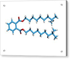 Diisodecyl Phthalate Acrylic Print by Dr Tim Evans