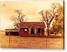 Acrylic Print featuring the photograph Dilapidated Old Farm House . 7d10341 by Wingsdomain Art and Photography