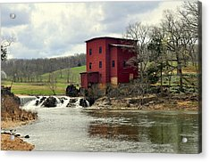 Dillard Mill Acrylic Print by Marty Koch
