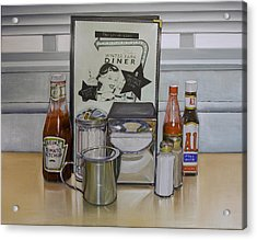 Diner Table Acrylic Print by Vic Vicini