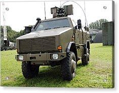 Dingo II Vehicle Of The Belgian Army Acrylic Print by Luc De Jaeger