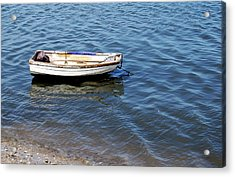 Dingy In St Augustine Bay Acrylic Print by Jim and Kim Shivers