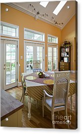 Dining Table In Kitchen Acrylic Print by Andersen Ross