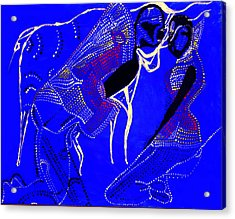 Acrylic Print featuring the painting Dinka Marriage by Gloria Ssali