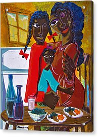 Dinner With Mom Acrylic Print by Kevin McDowell