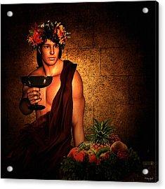 Dionysus Acrylic Print by Lourry Legarde