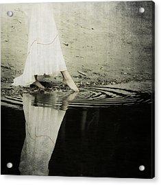 Dipping The Foot Acrylic Print by Joana Kruse