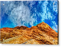 Dirt Mound And More Sky Acrylic Print