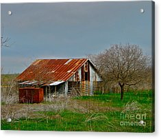 Acrylic Print featuring the photograph Dirt Road Storage by Joe Finney