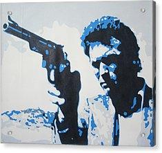 Dirty Harry Acrylic Print by Luis Ludzska