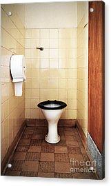 Dirty Public Toilet Acrylic Print by Richard Thomas
