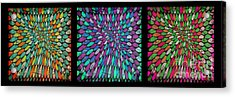 Disperse Color Tones Acrylic Print by Ankeeta Bansal