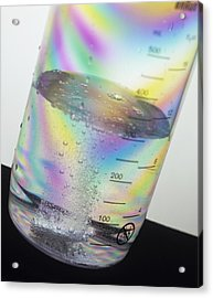 Dissolving Tablet Acrylic Print by Sheila Terry