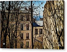 Acrylic Print featuring the photograph Distant Eiffel by Kim Wilson