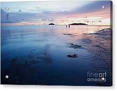 Distant Islands  Acrylic Print by Gary Bridger