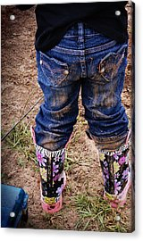 Diva In Dirt Acrylic Print by Susan Bordelon