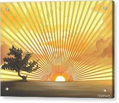 Diva's Sunset Acrylic Print