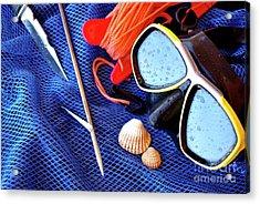 Dive Gear Acrylic Print by Carlos Caetano