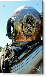 Dive Helmet Acrylic Print by Rene Triay Photography