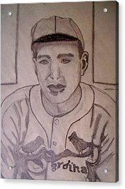 Dizzy Dean Cardinals Pitcher Acrylic Print by De Beall