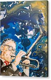 Dizzy Gillespie Acrylic Print by Omar Javier Correa