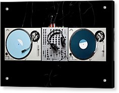 Dj Equipment Acrylic Print by Caspar Benson